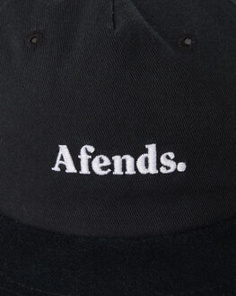 BLACK MENS ACCESSORIES AFENDS HEADWEAR - A191610BLK