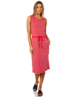 BOLD RED STRIPE WOMENS CLOTHING BETTY BASICS DRESSES - BB223S18RED