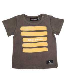 GREY WASH KIDS BABY ROCK YOUR BABY CLOTHING - BBT1814-SGGRYW