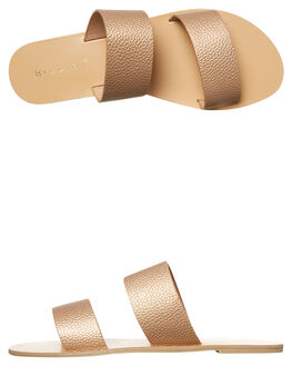ROSE GOLD PEBBLE WOMENS FOOTWEAR BILLINI SLIDES - S404RSEPB