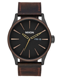 BLACK BROWN BRASS MENS ACCESSORIES NIXON WATCHES - A1052786