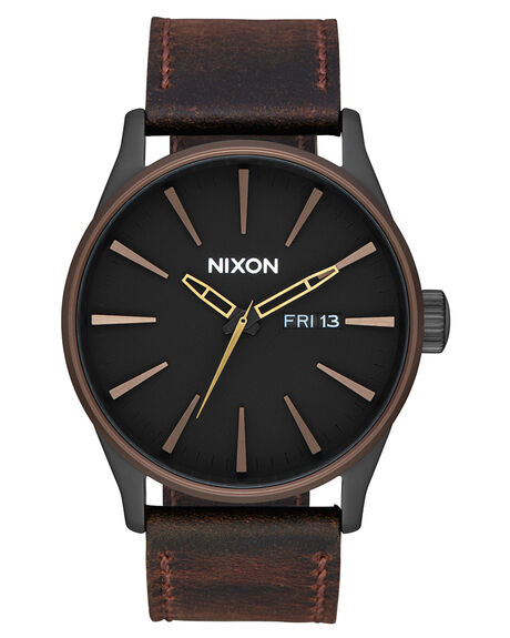 BLACK BROWN BRASS MENS ACCESSORIES NIXON WATCHES - A1052786