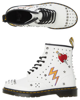 WHITE WOMENS FOOTWEAR DR. MARTENS BOOTS - SS24207100WHTW