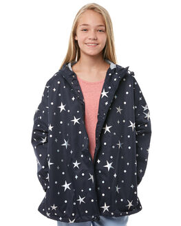 NAVY HOLOGRAPHIC KIDS GIRLS EVES SISTER JACKETS - 9910053NVY