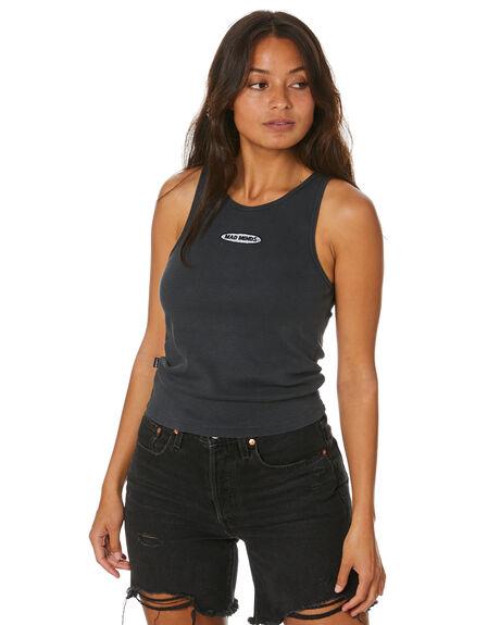 VINTAGE BLACK WOMENS CLOTHING MISFIT SINGLETS - MT102009VBLK