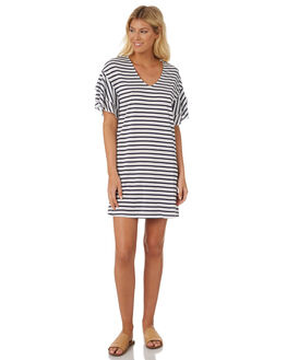 WHITE INK STRIPE WOMENS CLOTHING BETTY BASICS DRESSES - BB343S18MULTI