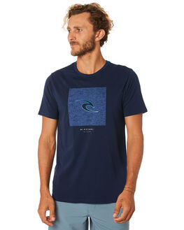 NAVY MENS CLOTHING RIP CURL TEES - CTESD20049