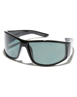 BLACK GREEN POLAR MENS ACCESSORIES QUIKSILVER SUNGLASSES - EQYEY03083XGKK