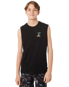 BLACK KIDS BOYS SWELL TOPS - S3184278BLACK