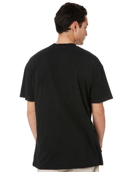 PIGMENT BLACK MENS CLOTHING STUSSY TEES - ST002003PGBLK