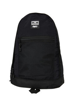 BLACK MENS ACCESSORIES OBEY BAGS + BACKPACKS - 100010107BLK
