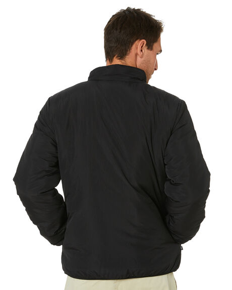 BLACK MENS CLOTHING STUSSY JACKETS - ST011504BLK