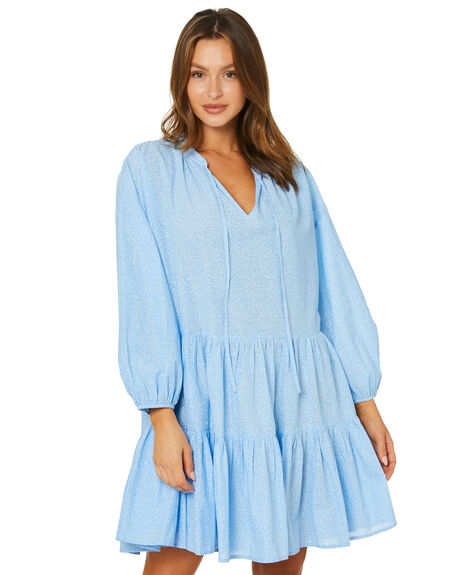 BLUE BELLE WOMENS CLOTHING SEAFOLLY DRESSES - 54586-DRBLUBL