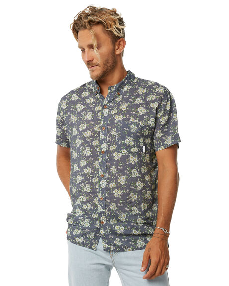 NAVY MENS CLOTHING STUSSY SHIRTS - ST073413NVY