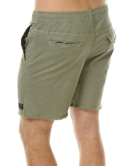 KHAKI MENS CLOTHING AFENDS SHORTS - 09-06-018KHA