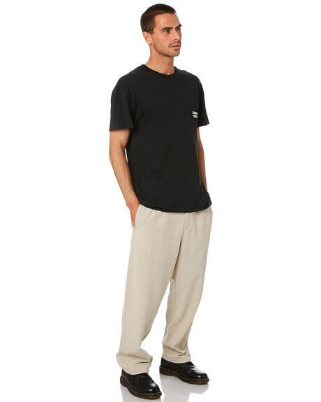 WASHED BLACK MENS CLOTHING MISFIT TEES - MT005008WSHBK