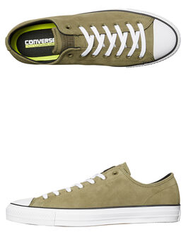OLIVE BLACK MENS FOOTWEAR CONVERSE SKATE SHOES - 157870OLV