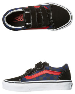 BLACK BLUE KIDS BOYS VANS SNEAKERS - VN-A38HDODIBLK
