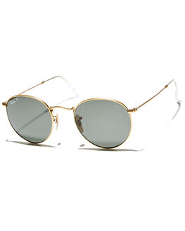 MATTE GOLD UNISEX ADULTS RAY-BAN SUNGLASSES - 0RB344711258