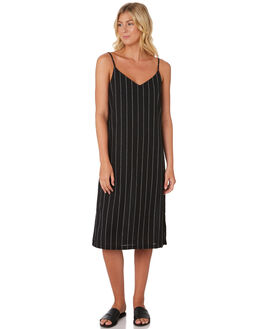 BLACK WHITE STRIPE WOMENS CLOTHING SWELL DRESSES - S8189446BLKWH