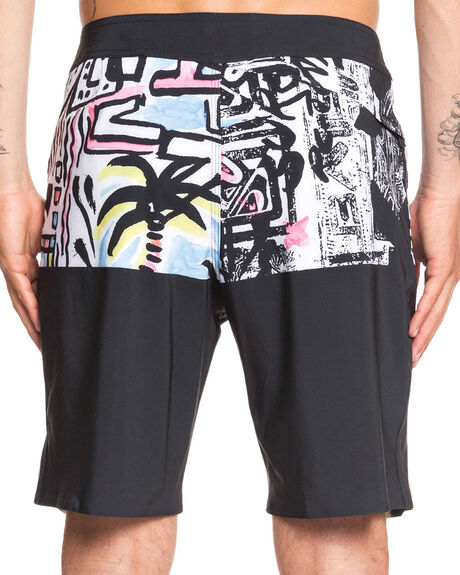 BLACK MENS CLOTHING QUIKSILVER BOARDSHORTS - EQYBS04281-KVJ6
