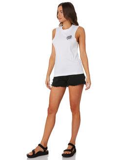 WHITE WOMENS CLOTHING SANTA CRUZ SINGLETS - SC-WTD9968WHI
