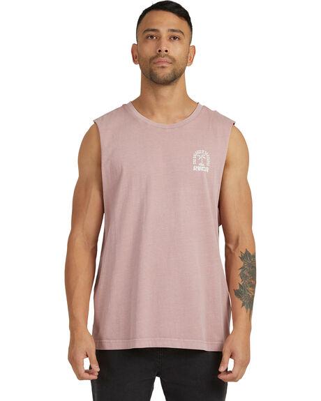 PALE MAUVE MENS CLOTHING RVCA SINGLETS - R118006-PAL