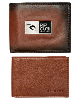 DARK BROWN MENS ACCESSORIES RIP CURL WALLETS - BWLGX11592