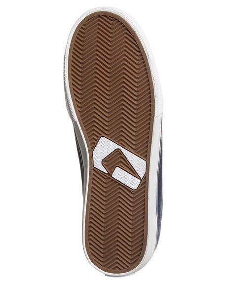 NAVY BROWN MENS FOOTWEAR GLOBE SKATE SHOES - GBGS-13191