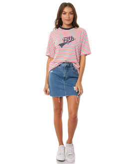 RED W WHITE WOMENS CLOTHING THE FIFTH LABEL TEES - 40180344-1RED