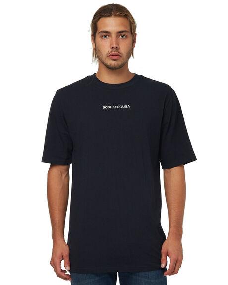BLACK MENS CLOTHING DC SHOES TEES - UDYZT03499KVJ0