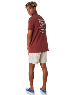 DARK RED MENS CLOTHING KATIN TEES - TSDEC05DRED
