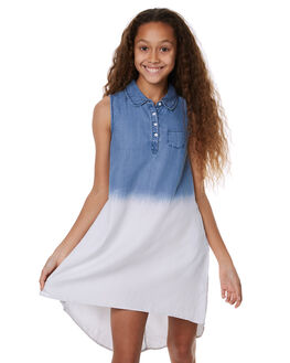 DENIM BLUE KIDS GIRLS EVES SISTER DRESSES - 9900078BLU