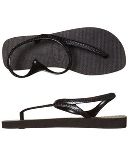 BLACK WOMENS FOOTWEAR HAVAIANAS THONGS - HFFU1090BLK