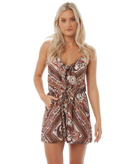 BROWN WOMENS CLOTHING ARNHEM PLAYSUITS + OVERALLS - ARROBR03BRO