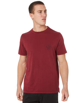 MAROON MENS CLOTHING RIP CURL TEES - CTEJZ94370
