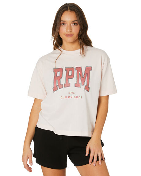 PINK WOMENS CLOTHING RPM TEES - 21PW01BPNK