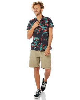 BLACK LEAVES MENS CLOTHING DEUS EX MACHINA SHIRTS - DMP85591BLVS