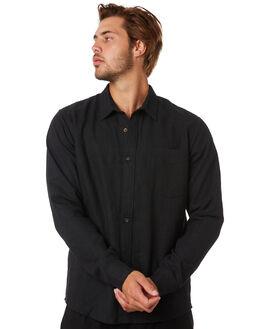 BLACK MENS CLOTHING THRILLS SHIRTS - TA20-205BBLK