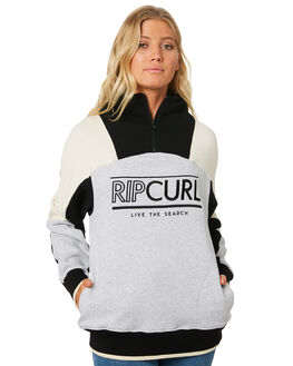 LIGHT GREY HEATHER WOMENS CLOTHING RIP CURL JUMPERS - GFEHW13233
