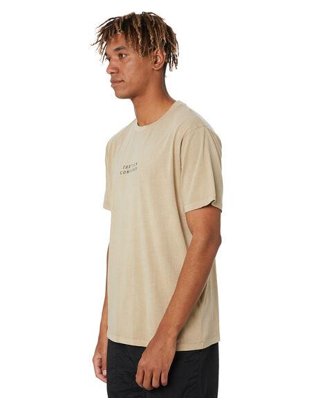WASHED TAN MENS CLOTHING THRILLS TEES - TR20-105CWTN