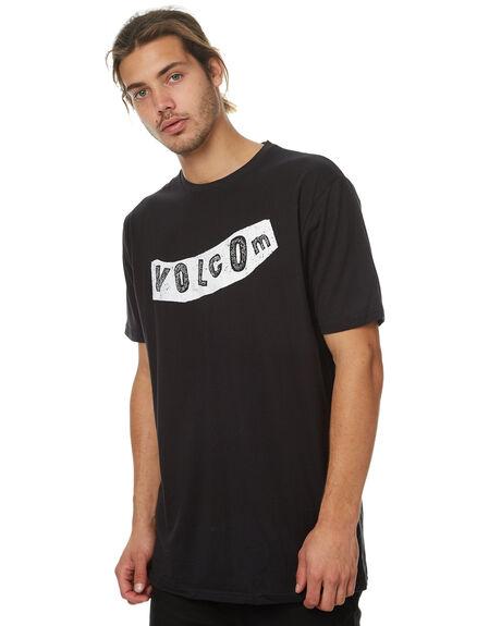 BLACK MENS CLOTHING VOLCOM TEES - A35317G7BLK