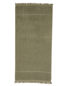 DUSTY GREEN WOMENS ACCESSORIES THE BEACH PEOPLE TOWELS - BR-X07-01-ODSTGR