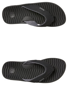 BLACK MENS FOOTWEAR KUSTOM THONGS - 4977201BBLK
