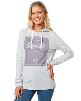 LIGHT GREY WOMENS CLOTHING RIP CURL TEES - GTEZM11201