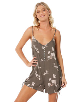 FLORAL PRINT WOMENS CLOTHING ELWOOD PLAYSUITS + OVERALLS - W83703-4JR