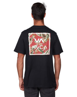 BLACK RED MENS CLOTHING RVCA TEES - RV-R182062-AEE