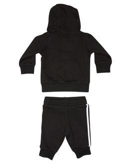 BLACK WHITE KIDS BOYS ADIDAS JUMPERS + JACKETS - DV2809BLKWH