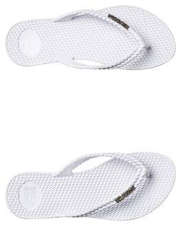 WHITE WOMENS FOOTWEAR BILLABONG THONGS - 6661856WHI