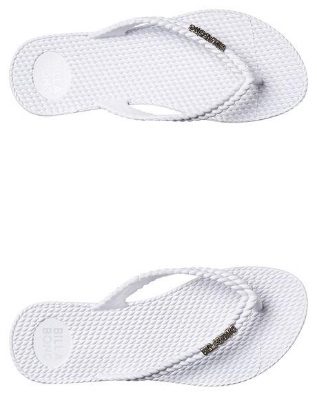 WHITE WOMENS FOOTWEAR BILLABONG THONGS - 6661856WHI